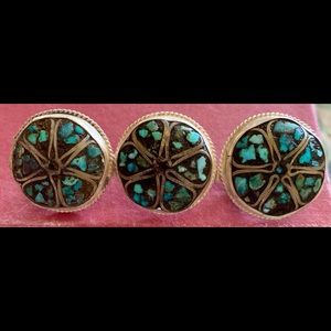 Jewelry - Antique Sterling Turquoise Broach from Arizona!